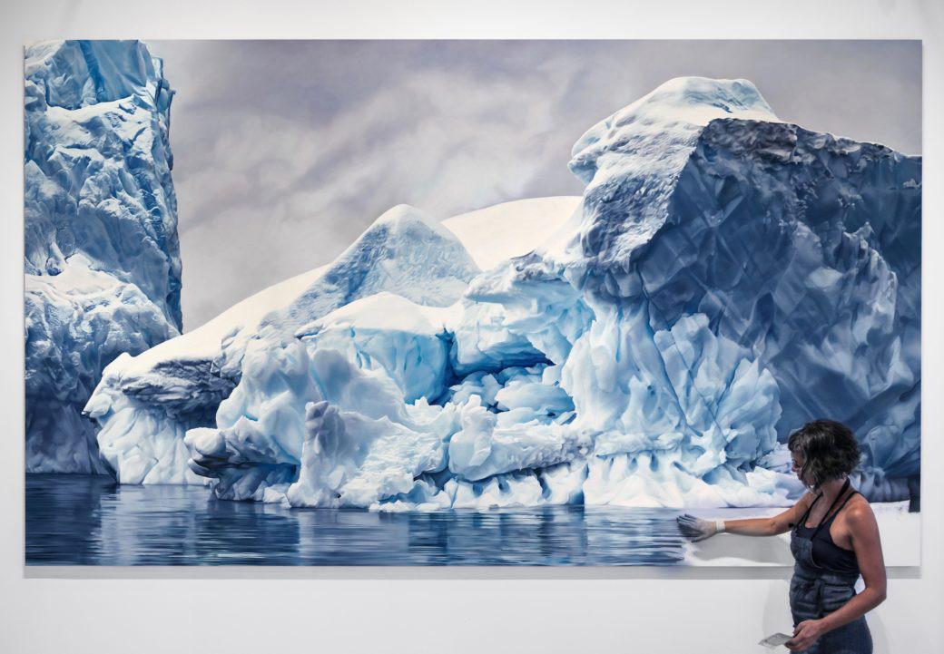 Монументальные пастельные рисунки Арктических айсбергов Зариа Форман (Zaria  Forman) — РАЗНОЕ
